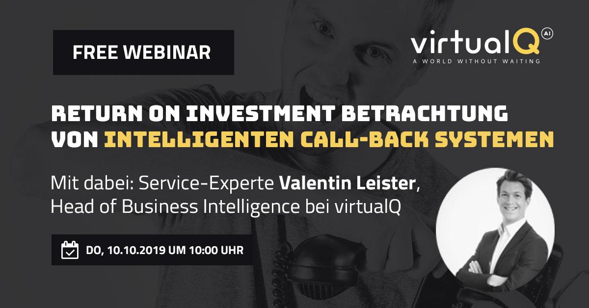 Return on Investment Betrachtung von intelligenten Call-Back Systemen